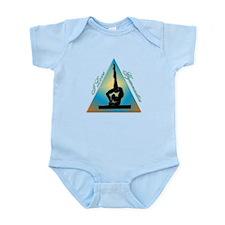 I Love Gymnastics Triangle #5 Infant Bodysuit