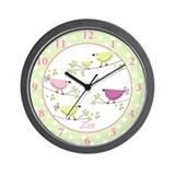 Zoe Penelope Bird Wall Clock