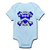 Barclay Family Crest Skull Infant Bodysuit