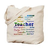 Teachers Wear Many Hats Teach Tote Bag