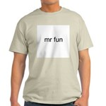 Mr. Fun Ash Grey T-Shirt