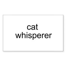 cat whisperer Rectangle Decal