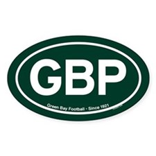 GBP Oval Sticker - Green