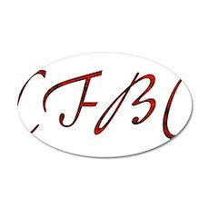CFBC Red Logo 22x14 Oval Wall Peel