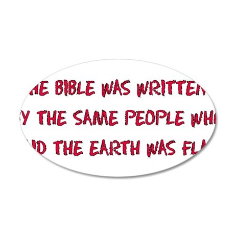 Flat Earth Bible Thumpers 38.5 x 24.5 Oval Wall Pe