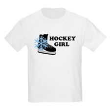 Hockey Girl Ice Skate Kids T-Shirt