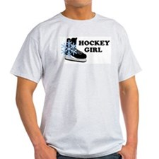 Hockey Girl Ice Skate Ash Grey T-Shirt