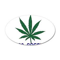 Go Marijuana Green 22x14 Oval Wall Peel