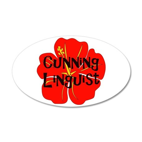 Cunning Linguist 38.5 x 24.5 Oval Wall Peel