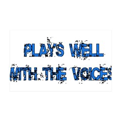 Plays With Voices 38.5 x 24.5 Wall Peel