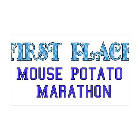 Mouse Potato Marathon 38.5 x 24.5 Wall Peel