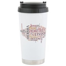 Midsummer Night's Wordle Ceramic Travel Mug