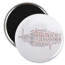 Midsummer Night's Wordle Magnet