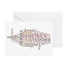 Midsummer Night's Wordle Greeting Cards (Pk of 20)