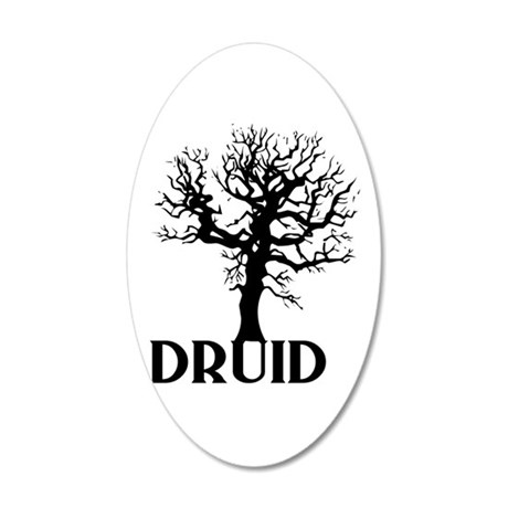 Druid 35x21 Oval Wall Decal