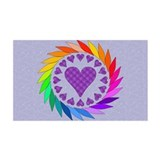 Rainbow Love Hearts 38.5 x 24.5 Wall Peel