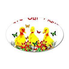 Planet Saving Ducklings 38.5 x 24.5 Oval Wall Peel