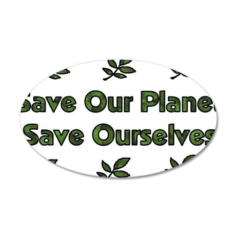 Save Ourselves 22x14 Oval Wall Peel