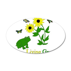 Living Green Frog 38.5 x 24.5 Oval Wall Peel