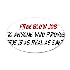 Free Blow Job 22x14 Oval Wall Peel