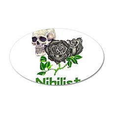 Nihilist Skull 22x14 Oval Wall Peel