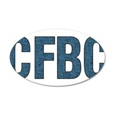 CFBC Blue Logo 38.5 x 24.5 Oval Wall Peel