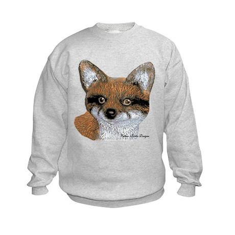 Fox Portrait Design Kids Sweatshirt