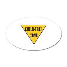 Child-Free Zone 22x14 Oval Wall Peel