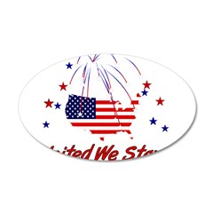 United We Stand 22x14 Oval Wall Peel