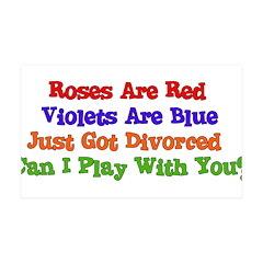 Divorced Valentine 38.5 x 24.5 Wall Peel