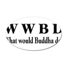 Buddha 38.5 x 24.5 Oval Wall Peel