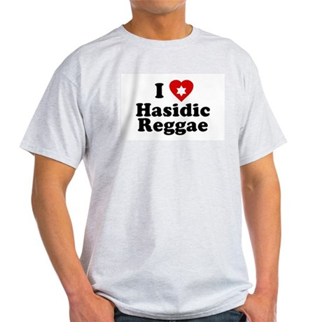 I Love [heart] Hasidic Reggae Ash Grey T-Shirt