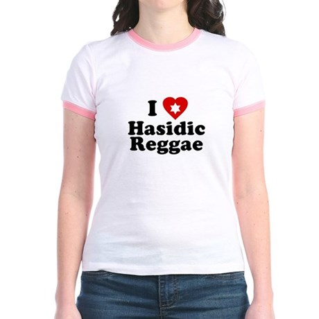 I Love [heart] Hasidic Reggae Jr Ringer T-Shirt