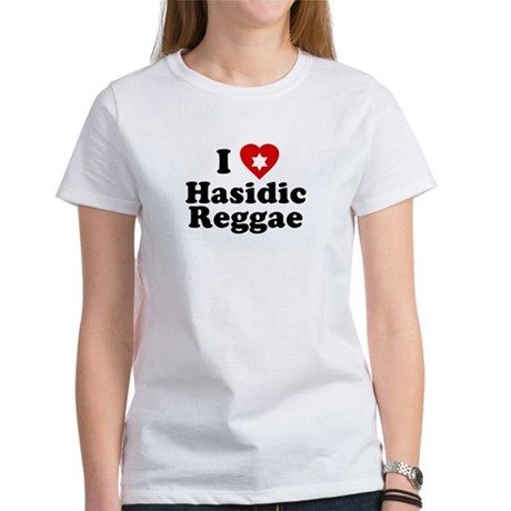 I Love [heart] Hasidic Reggae Womens T-Shirt