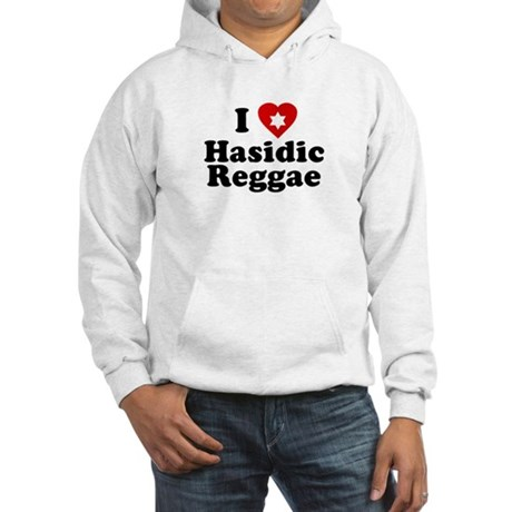 I Love [heart] Hasidic Reggae Hooded Sweatshirt