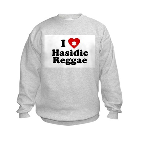 I Love [heart] Hasidic Reggae Kids Sweatshirt