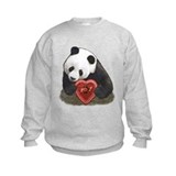"""Panda with a heart"" Sweatshirt"