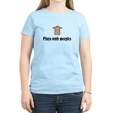 Plays with meeples. WOMEN'S T-shirt