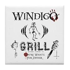 Wendigo or Windigo Grill Tile Coaster