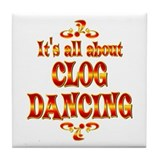 About Clog Dancing Tile Coaster