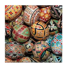 Pysanky Group 3 Tile Coaster