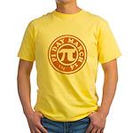 Happy Pi Day 3/14 Circular De Yellow T-Shirt