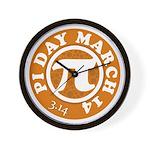 Happy Pi Day 3/14 Circular De Wall Clock