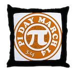 Happy Pi Day 3/14 Circular De Throw Pillow