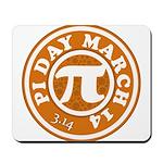 Happy Pi Day 3/14 Circular De Mousepad