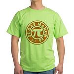 Happy Pi Day 3/14 Circular De Green T-Shirt