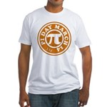 Happy Pi Day 3/14 Circular De Fitted T-Shirt