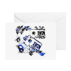 DJ Cassette V1 Greeting Cards (Pk of 20)