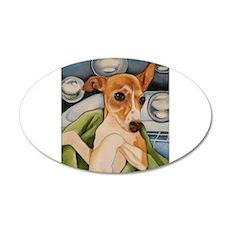 Italian Greyhound Puppy Bath 22x14 Oval Wall Peel