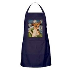Italian Greyhound Puppy Bath Apron (dark)